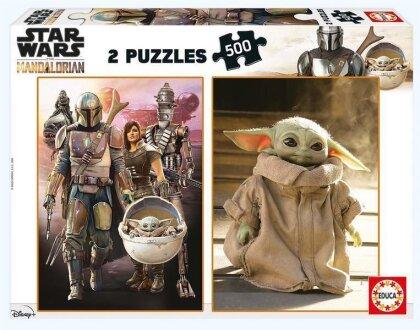 Star Wars: The Mandalorian - 2x 500 Teile Puzzles