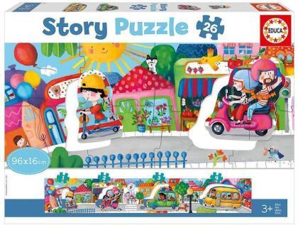 Fahrzeuge - 26 Teile Geschichten-Puzzle