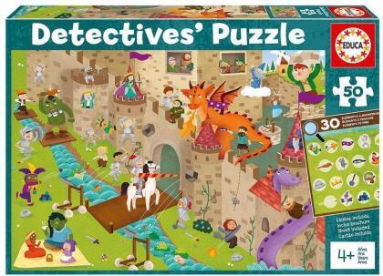 Schloss - 50 Teile Detektiv Puzzle