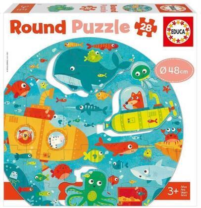 Unterwasser - 28 Teile Rund-Puzzle