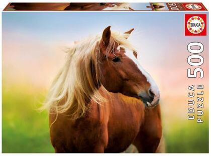 Pferd im Sonnenaufgang - 500 Teile Puzzle