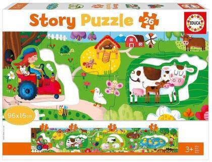 Bauernhof - 26 Teile Geschichten-Puzzle