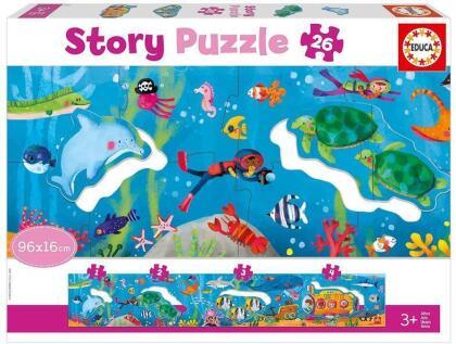 Unterwasser - 26 Teile Geschichten-Puzzles
