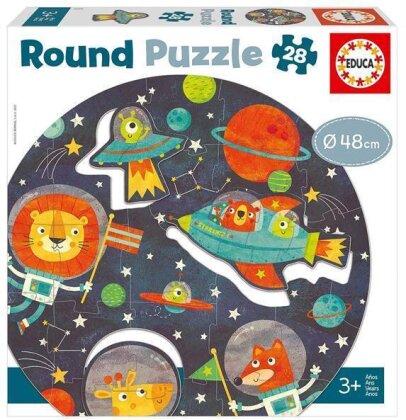 Weltraum - 28 Teile Rund-Puzzle