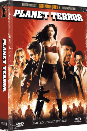 Grindhouse - Planet Terror (2007) (Wattiert, Limited Collector's Edition, Mediabook, Uncut, Blu-ray + DVD)