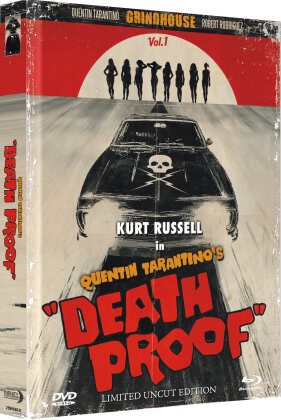 Grindhouse - Death Proof (2007) (Wattiert, Limited Collector's Edition, Mediabook, Uncut, Blu-ray + DVD)