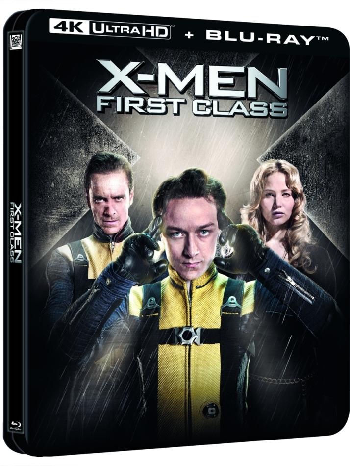 X-Men: First Class (2011) (Lenticular, Limited Edition, Steelbook, 4K Ultra HD + Blu-ray)
