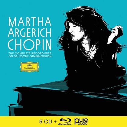 Frédéric Chopin (1810-1849), Claudio Abbado, Martha Argerich & London Symphony Orchesta - Sämtliche Aufnahmen Für DG (5 CDs + Blu-ray)