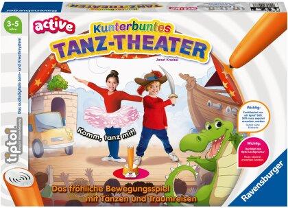 Ravensburger tiptoi® ACTIVE Spiel 00077, Kunterbuntes Tanz-Theater - Bewegungsspiel ab 3 Jahren