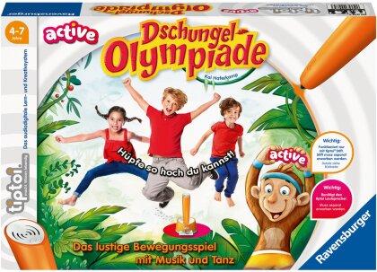 Ravensburger tiptoi® ACTIVE Spiel 00075, Dschungel-Olympiade - Bewegungsspiel ab 4 Jahre für 1-6 Spieler