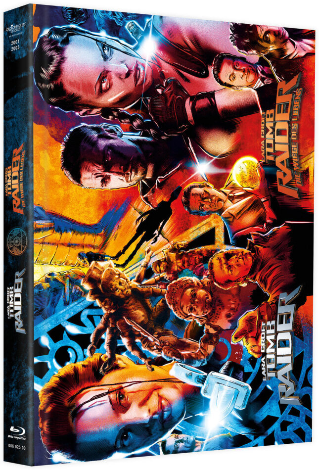 Lara Croft: Tomb Raider / Lara Croft: Tomb Raider - Die Wiege des Lebens (Cover A, Limited Edition, Mediabook, 2 Blu-rays + 2 DVDs)