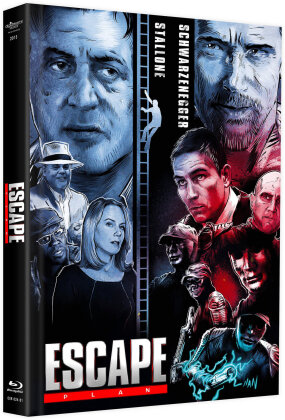 Escape Plan (2013) (Cover C, Limited Edition, Mediabook, Blu-ray + DVD)