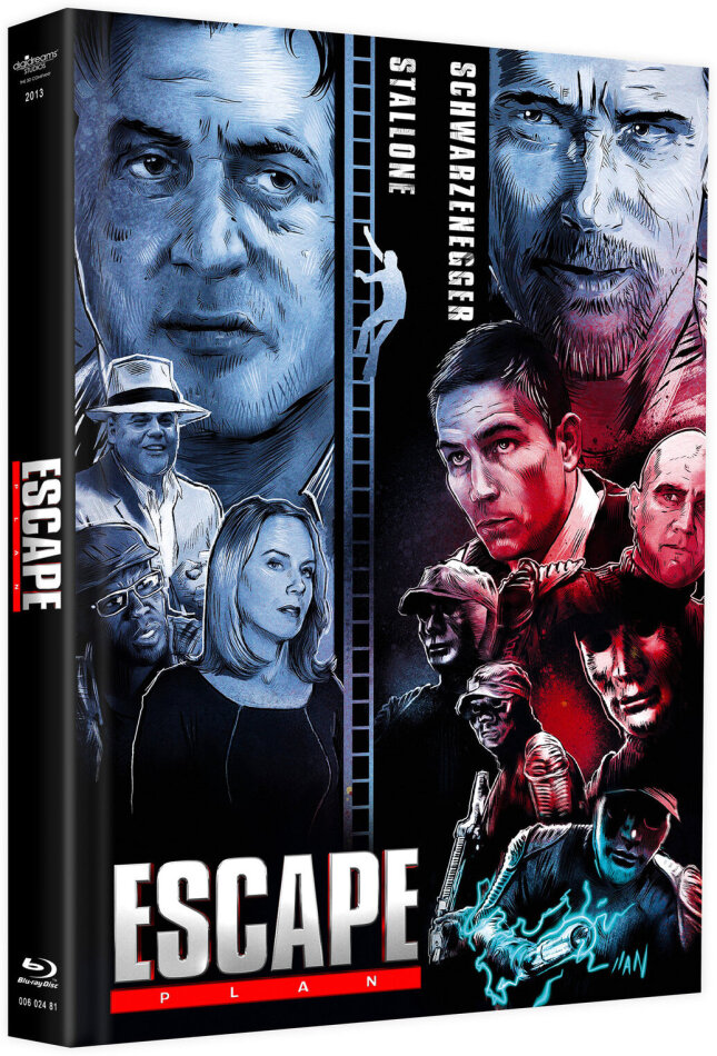 Escape Plan (2013) (Cover C, Limited Edition, Mediabook, Remastered, Uncut, Blu-ray + DVD)