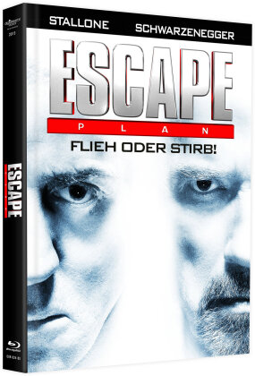 Escape Plan (2013) (Cover B, Limited Edition, Mediabook, Blu-ray + DVD)