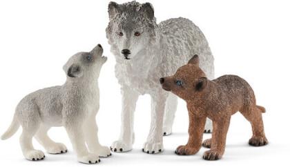 Schleich - Schleich Mother Wolf With Pups