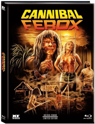 Cannibal Ferox (1981) (Cover C, Limited Edition, Mediabook, Blu-ray + DVD)