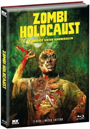 Zombi Holocaust - Zombies unter Kannibalen (1980) (Wattiert, Cover A, Limited Edition, Mediabook, 2 Blu-rays + DVD)
