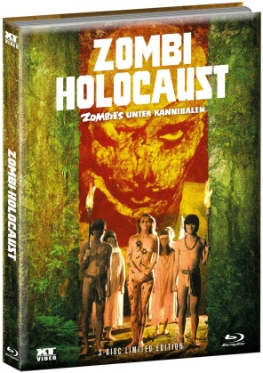 Zombi Holocaust - Zombies unter Kannibalen (1980) (Wattiert, Cover B, Limited Edition, Mediabook, 2 Blu-rays + DVD)