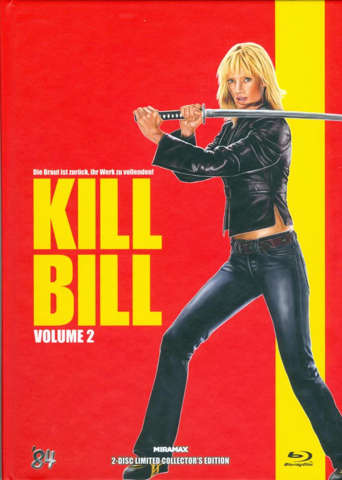 Kill Bill - Vol. 2 (2004) (Cover E, Limited Collector's Edition, Mediabook, Uncut, Blu-ray + DVD)