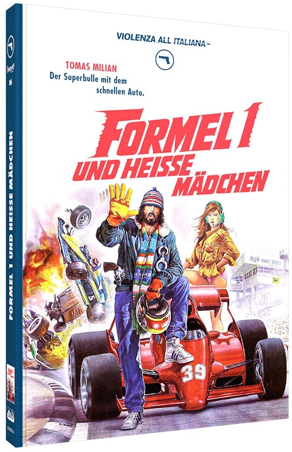 Formel 1 und heisse Mädchen (1984) (Violenza All'Italiana Collection, Cover A, Limited Edition, Mediabook, Blu-ray + DVD)