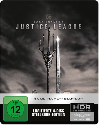 Zack Snyder's Justice League (2021) (Limited Edition, Steelbook, 2 4K Ultra HDs + 2 Blu-rays)