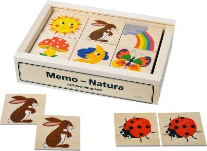 Memo Natura - 48 Teile, Birkensperrholz,
