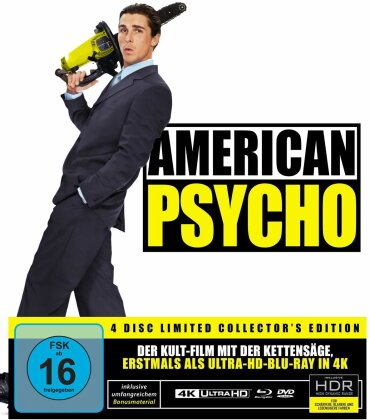 American Psycho (2000) (Limited Collector's Edition, 4K Ultra HD + Blu-ray + 2 DVDs + CD)