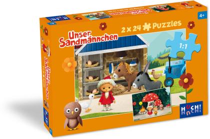 Unser Sandmännchen - Puzzle 1 (2x 24 Teile)
