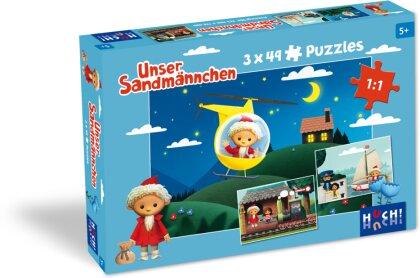 Unser Sandmännchen - Puzzle 2 (3x 49 Teile)