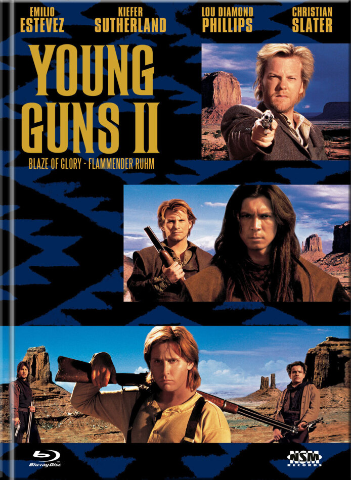 Young Guns 2 - Blaze of Glory - Flammender Ruhm (1990) (Cover C, Limited Edition, Mediabook, Blu-ray + DVD)