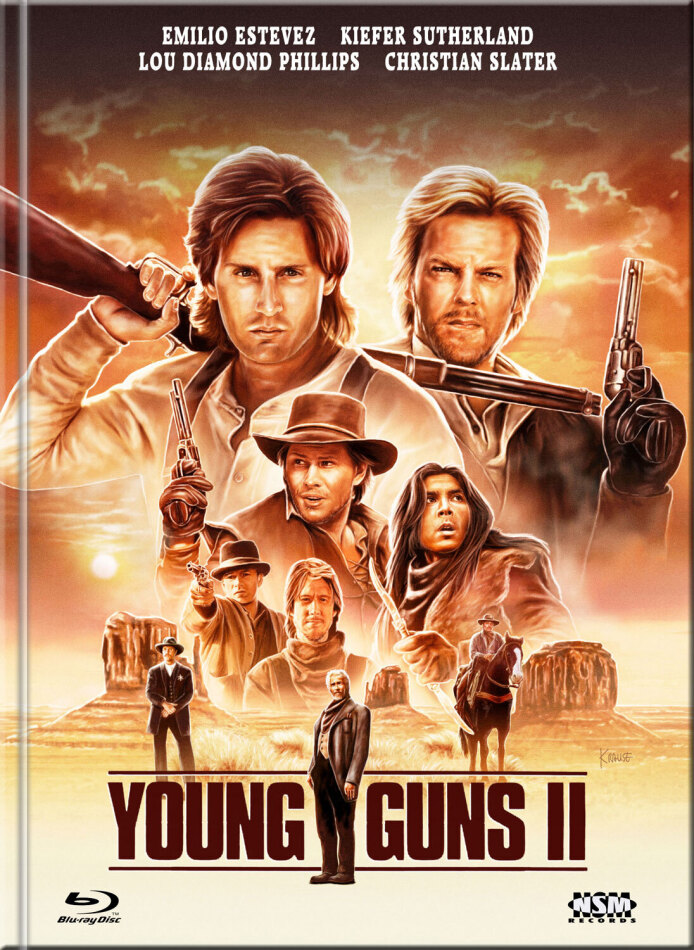Young Guns 2 - Blaze of Glory - Flammender Ruhm (1990) (Cover D, Limited Edition, Mediabook, Blu-ray + DVD)