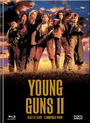 Young Guns 2 - Blaze of Glory - Flammender Ruhm (1990) (Cover A, Edizione Limitata, Mediabook, Blu-ray + DVD)