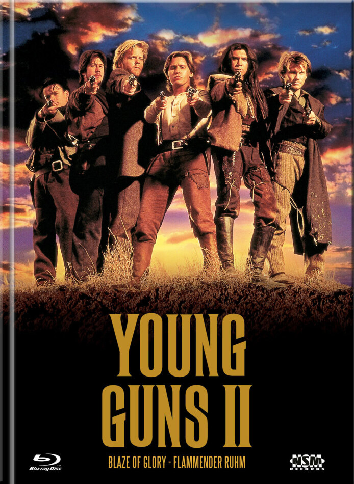Young Guns 2 - Blaze of Glory - Flammender Ruhm (1990) (Cover A, Limited Edition, Mediabook, Blu-ray + DVD)