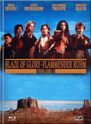 Young Guns 2 - Blaze of Glory - Flammender Ruhm (1990) (Cover B, Limited Edition, Mediabook, Blu-ray + DVD)