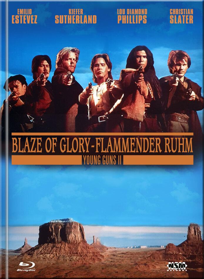 Young Guns 2 - Blaze of Glory - Flammender Ruhm (1990) (Cover B, Edizione Limitata, Mediabook, Blu-ray + DVD)