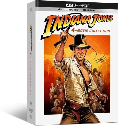 Indiana Jones - L'intégrale des 4 films (Digipack, Limited Edition, 4 4K Ultra HDs + 4 Blu-rays + DVD)