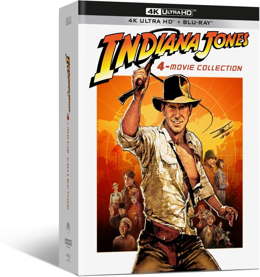 Indiana Jones - L'intégrale des 4 films (Digipack, Édition Limitée, 4 4K Ultra HDs + 4 Blu-ray + DVD)