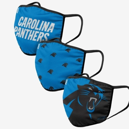 NFL Team Carolina Panthers - Gesichtsmasken 3er Pack