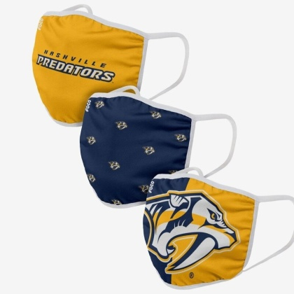 NHL Team Nashville Predators - Gesichtsmasken 3er Pack