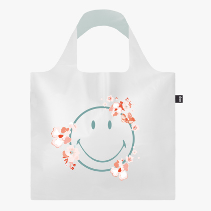 LOQI Bag, SMILEY TRANSPARENT - Milky Blossom