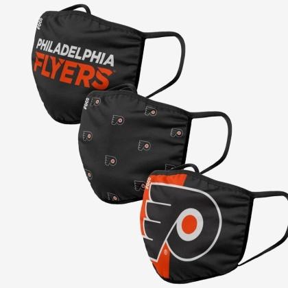 NHL Team Philadelphia Flyers - Gesichtsmasken 3er Pack