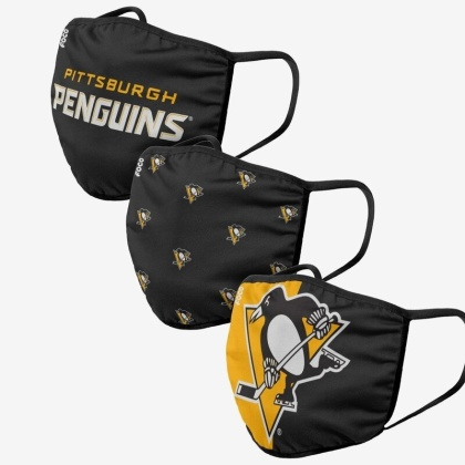 NHL Team Pittsburgh Penguins - Masques faciaux 3 pack
