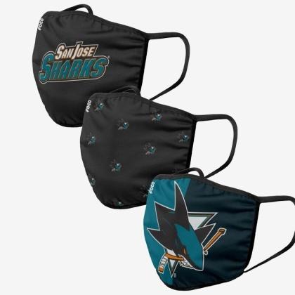NHL Team San Jose Sharks - Gesichtsmasken 3er Pack
