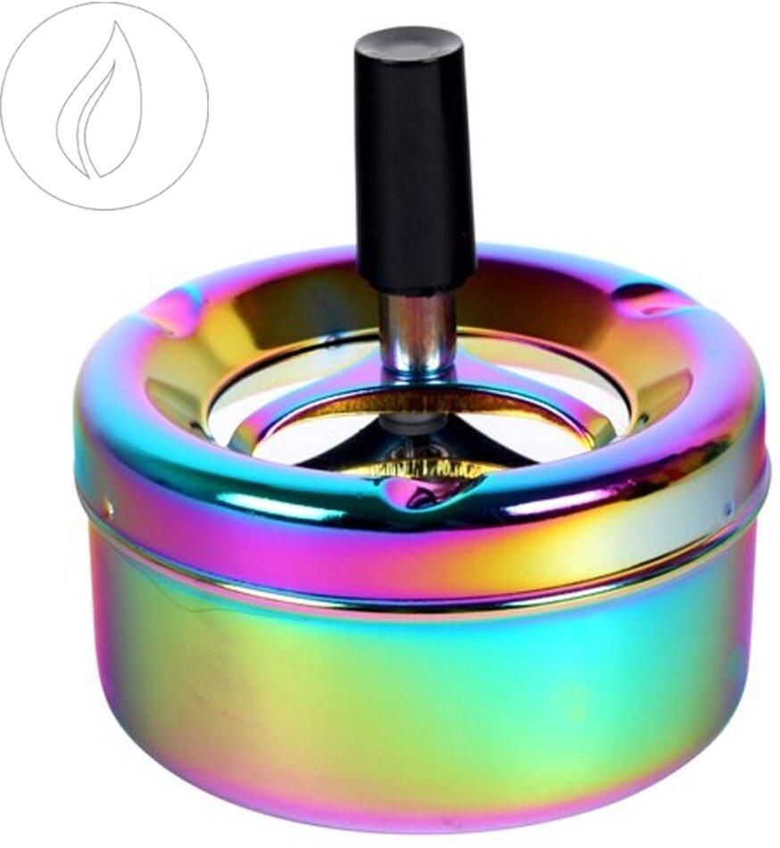 Drehaschenbecher Shiny Rainbow