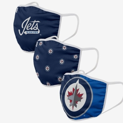 NHL Team Winnipeg Jets - Gesichtsmasken 3er Pack