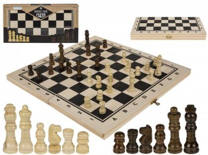 Holz-Brettspiel, Schach - ca. 34 x 34 cm,