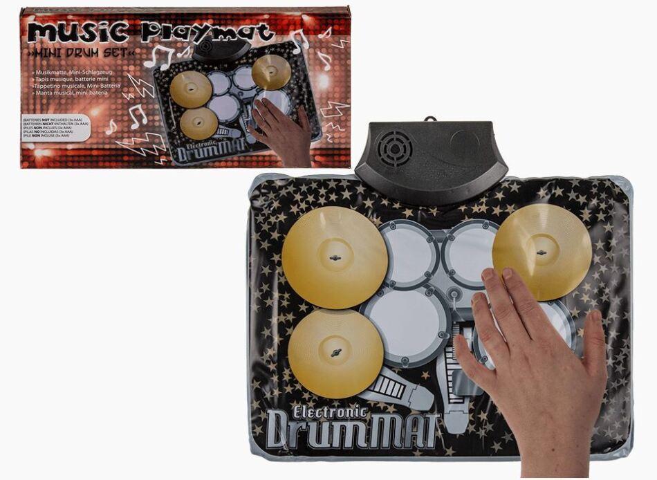Musikmatte Mini-Schlagzeug ca. 34x25 cm