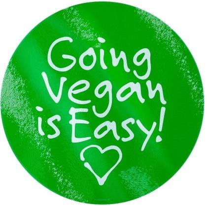 Going Vegan is Easy - Glass Chopping Board