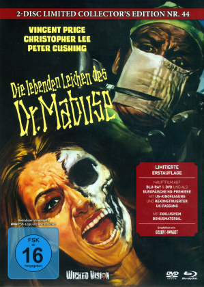 Die lebenden Leichen des Dr. Mabuse (1970) (Cover B, Limited Collector's Edition, Mediabook, Uncut, Blu-ray + DVD)