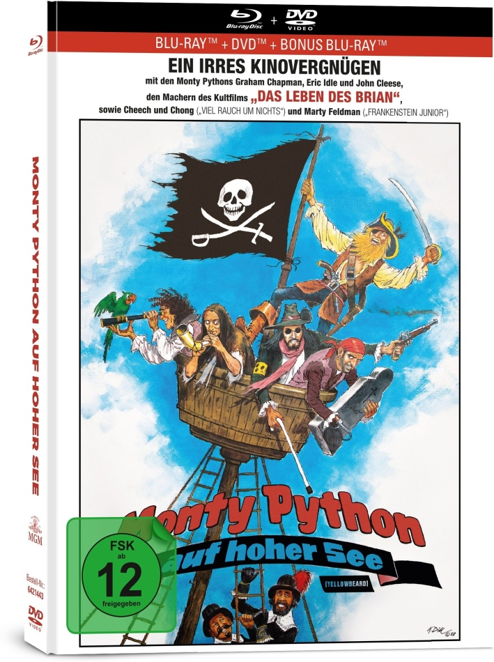 Monty Python auf hoher See (1983) (Limited Collector's Edition, Mediabook, 2 Blu-rays + DVD)